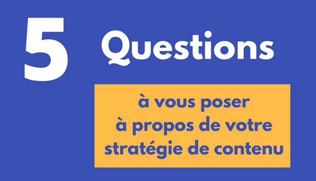 Stratégie de contenu-questions